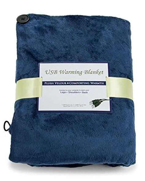 Usb Heating Blanket by Usb Heated Shawl And Blanket Blue Color Usb Heated