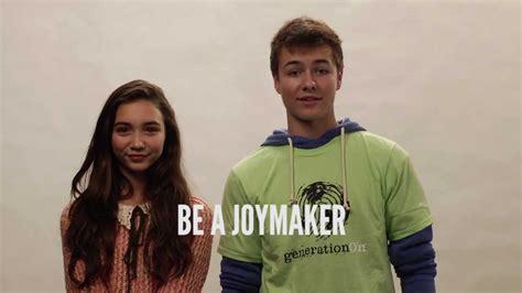 Rowan blanchard and peyton meyer encourage you to givejoy youtube