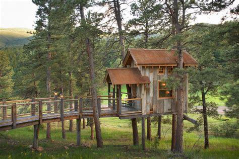 Beautiful Treehouse Austin method Denver Rustic Exterior