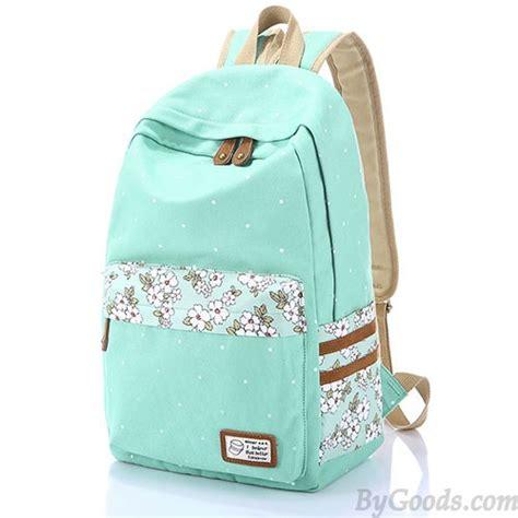 Relaxa Mint Bag Pack Of 3 fresh polka dot mint green canvas school backpacks fashion backpacks fashion bags bygoods