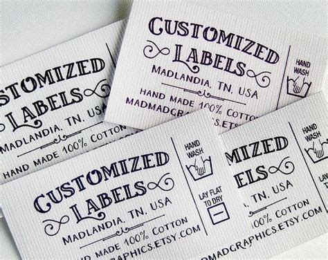 Care Labels For Handmade Items - best 25 fabric labels ideas on personalized