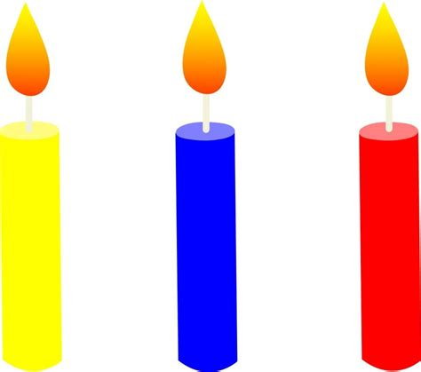 Red And Yellow Kitchen Curtains Candle Photo Clip Art