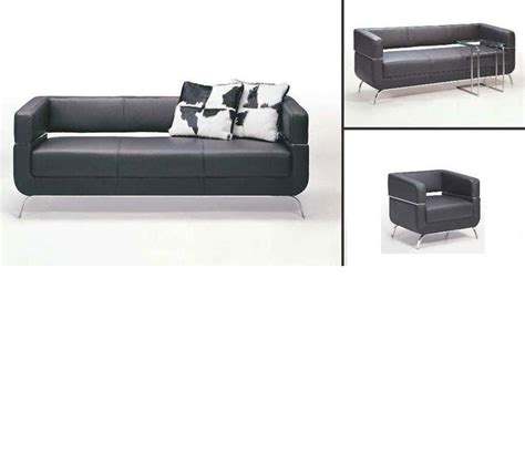 contemporary black leather couch dreamfurniture com f51 contemporary black leather sofa set