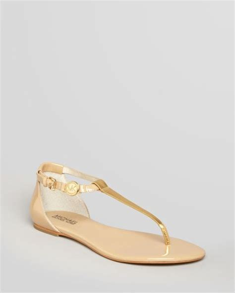 bridget sandals michael michael kors flat sandals bridget in beige