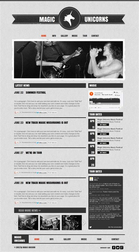 12 Best Free Music Band Templates Best Templates For Musicians