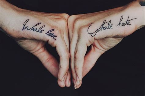 tattoo inhale love exhale hate drops of jupiter tattoo tuesday