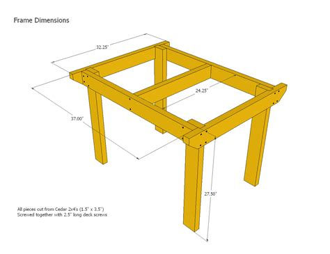 Patio Table Plans Home Interior Design Ideashome Patio Table Dimensions