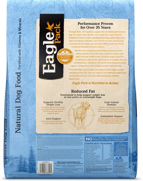 eagle pack food reviews eagle pack reduced food 15 lb bag chewy