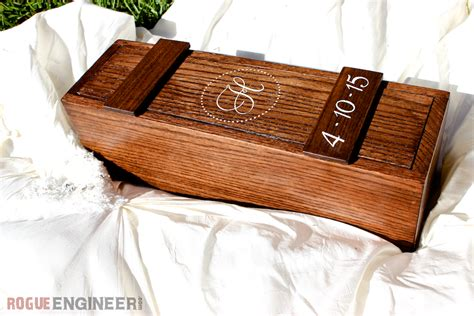Wedding Box Diy by Diy Wedding Wine Box Free Plans Rogue Engineer