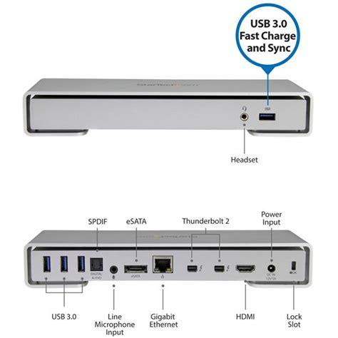Kabel Audio Input 2 Port station d accueil thunderbolt 2 displayport hdmi 4k x 2k