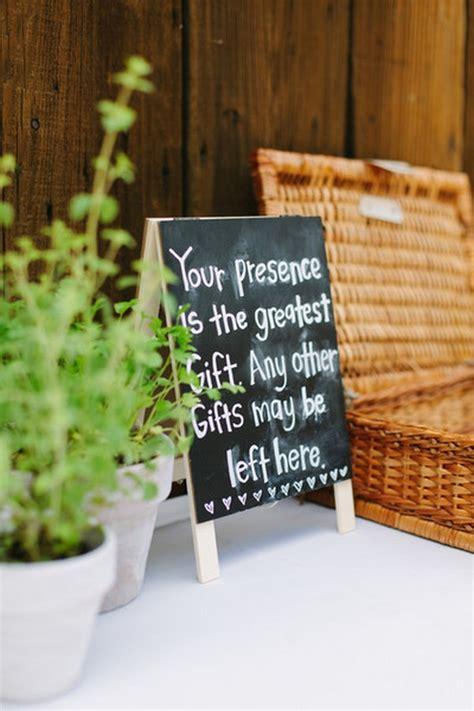 wedding gift sign ideas 20 chic rustic chalkboard wedding sign ideas