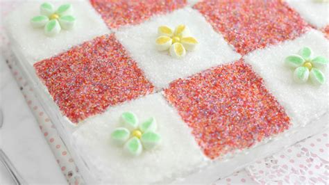 Patchwork Quilt Cake - granny s patchwork quilt cake recipe from tablespoon