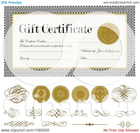 gold certificate seal clip art 54