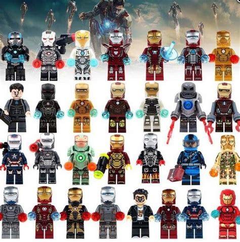 marvel iron man suits minifigures comic super heroes fit