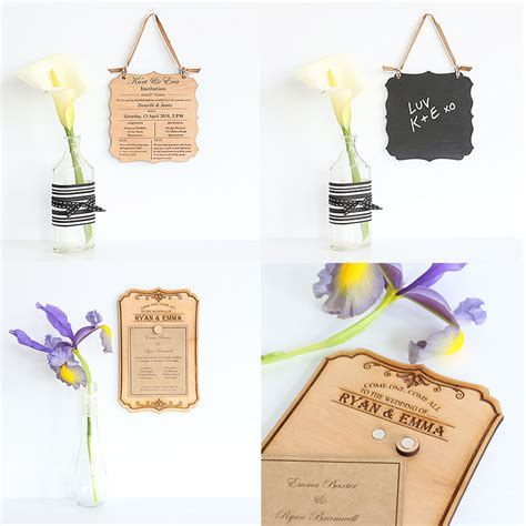 Reusable Wedding Invitations reusable engraved wooden wedding invitations