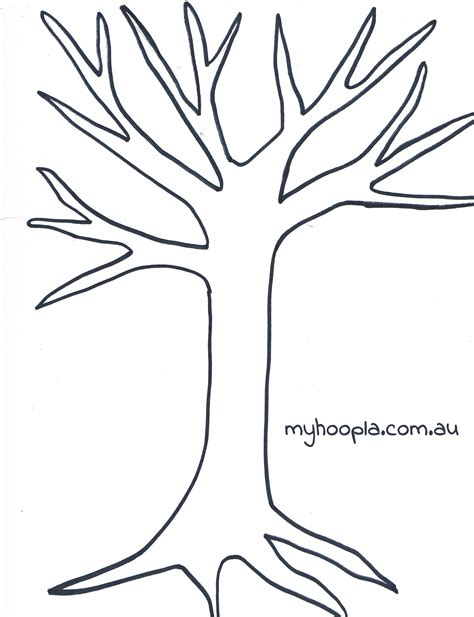 Printable Tree Template Coloring Home Tree Template Free