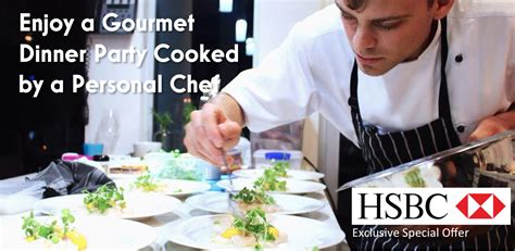 dinner chef hsbc personal chef dinner offer