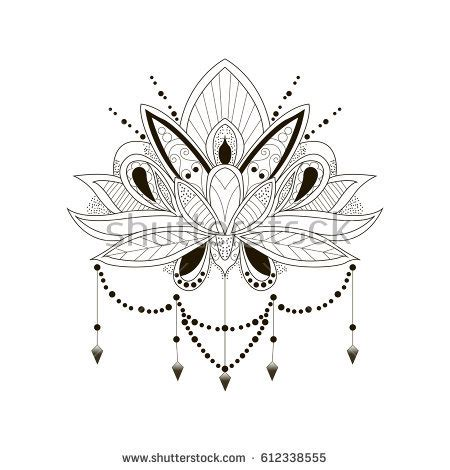 lotus tattoo stock images royalty free images amp vectors