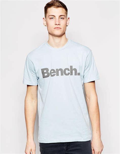 bench shirt for men lyst bench logo t shirt in blue for men