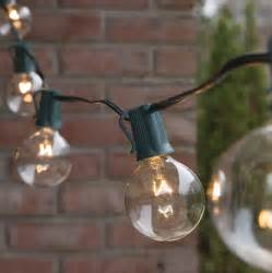 Patio Light Stringer Patio Lights Commercial Clear Globe String Lights 25 G50 E17 Bulbs Green Wire