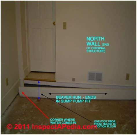 interior basement drainage interior perimeter drain or quot drain quot to stop or