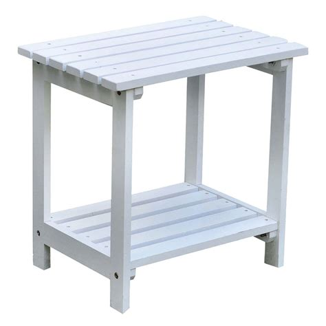 Patio End Table Two Tier Small Side Table In Patio Side Tables