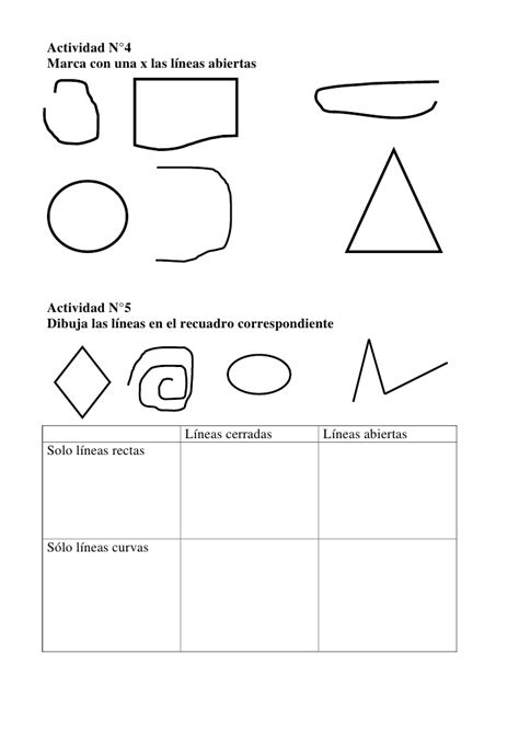 figuras geometricas rectas lineas rectas y curvas geometria en primero de primaria