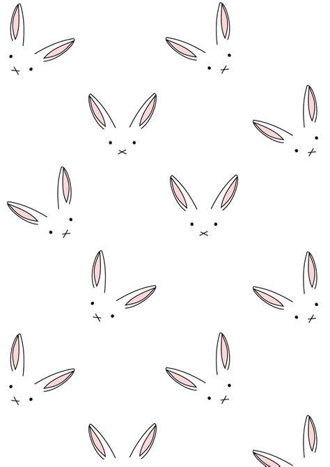 cute minimal pattern free digital bunny scrapbooking paper minimalist