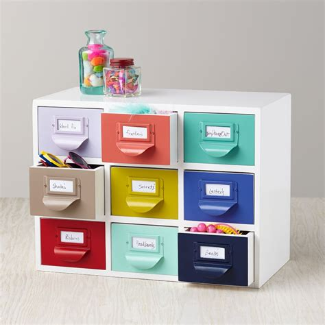Color Reference Drawers Kid Desk Accessories