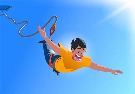 jump free bungee jumping free vector stock graphics