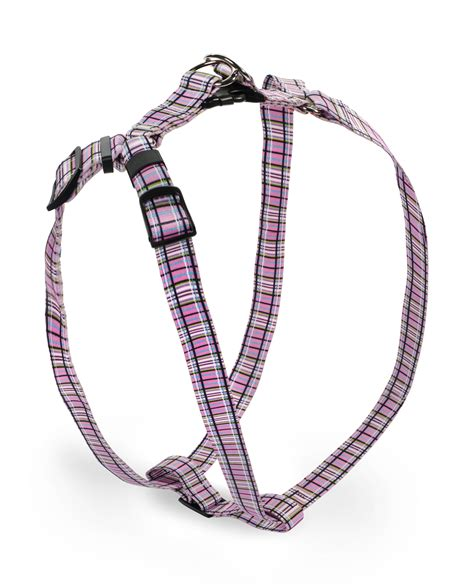 step in harness tartan pink step in harness by yellow design