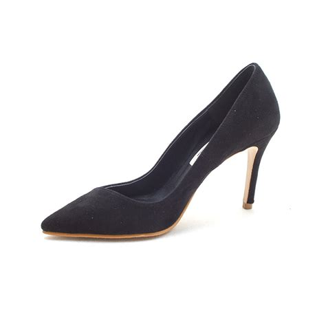 black pointed toe high heels s pointed toe black faux suede high heels pumps