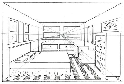 homework one point perspective room drawing com art favourites by xxripsurferxx on deviantart art