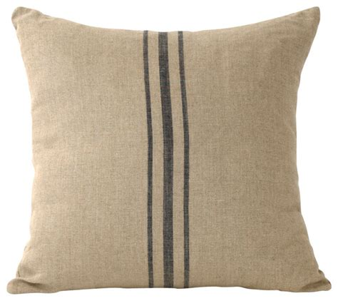 Decorative Pillows Linen Striped Pillow Blue Farmhouse Decorative