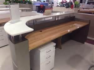modern office salon used hospital curved reception desk