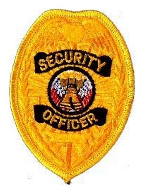 Bordir Patch Emblem Badgr Mcdonald security officer badge patch liberty bell 640023 s pride security officer badge patch