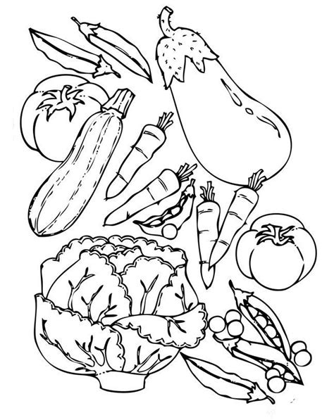 coloring pages with vegetables fruits and vegetables coloring pages coloring pages