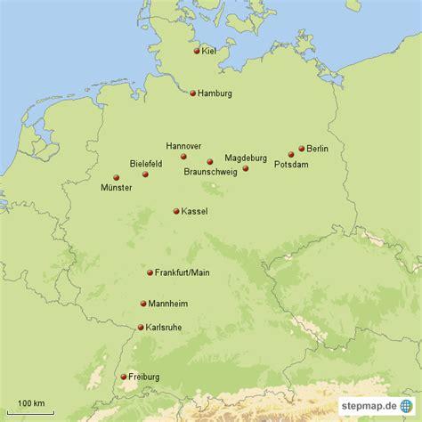nord s 252 d und ost west st 228 dtelinie maxi76 landkarte - Nord Süd West Ost