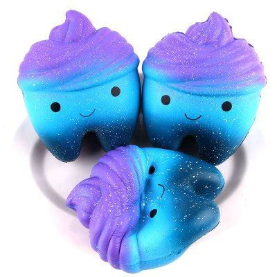 Squishy Jumbo Galaxy Tooth Cake Licenses By Sanqi Elan jumbo squishy stress relief tooth pu decoration 1pc 7 84 shopping gearbest
