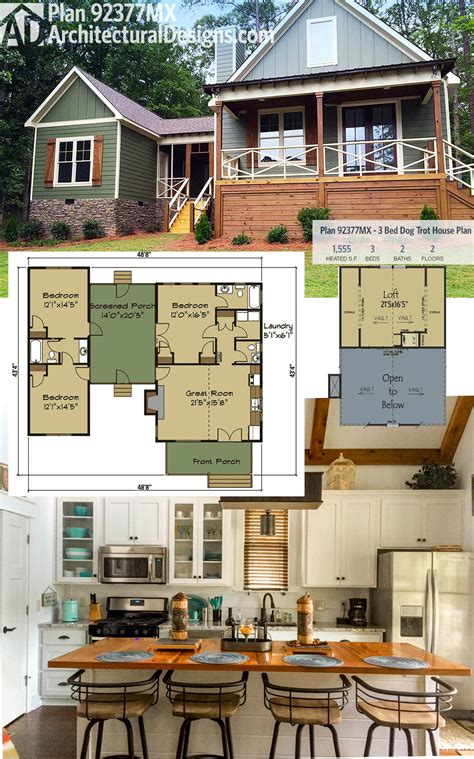 plan 92377mx 3 bed trot house plan with sleeping loft