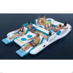 inflatable raft pool ocean lake 8 person people tropical