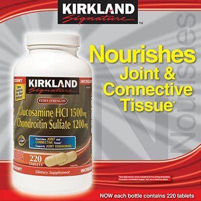 Kirkland Signature Glucosamine 1500 Mg Chondroitin 1200 Mg kirkland signature strength glucosamine chondroitin sulfate glucosamine hci 1500 mg