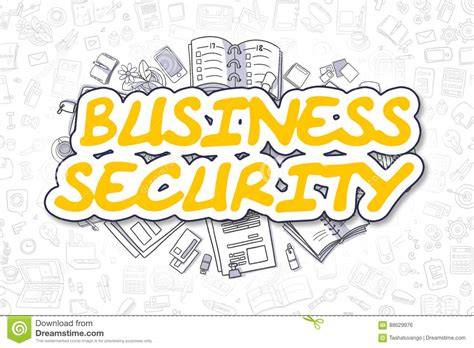 doodle surveillance business security doodle yellow word business concept