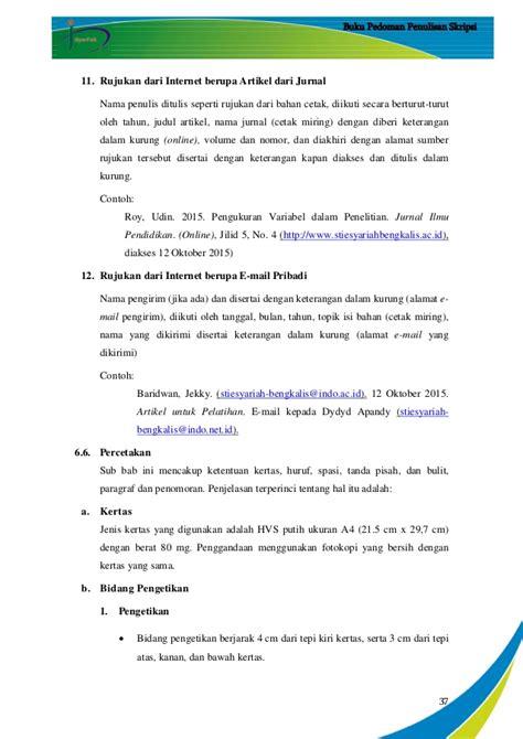 format ukuran kertas penulisan skripsi pedoman penulisan skripsi stie s tahun 2015