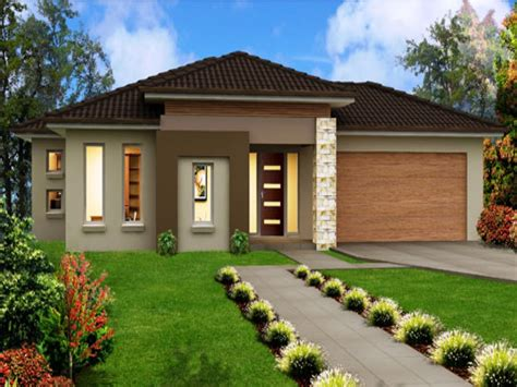 one story home modern one storey house