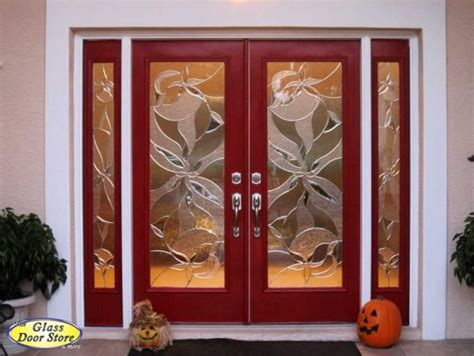decorative glass door sidelights red double front entry doors with double sidelights ta