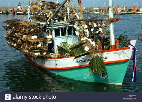 buy a fishing boat in thailand thai fishing boats hua hin thailand crab lobster stock
