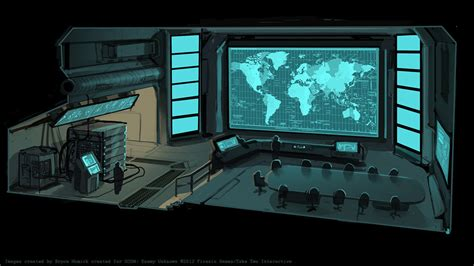 Situation Room by Xcom Situation Room By Zombat On Deviantart
