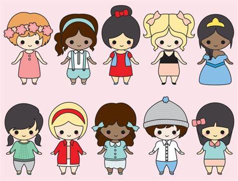 imagenes de bebes kawaii premium vector clipart kawaii girls im 225 genes
