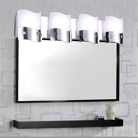 modern minimalist led mirror lights wavy flowing design
